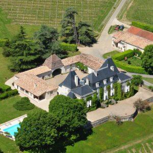 Château de Parenchère - Vue aérienne